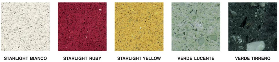 Starlight Bianco - Starlight Ruby - Starlight Yellow - Verde Lucente - Verde Tirreno